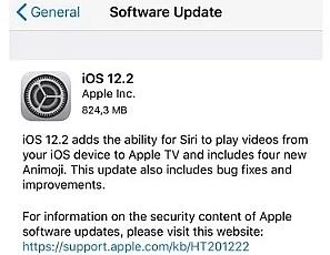 Apple chính thức ra mắt iOS 12.2