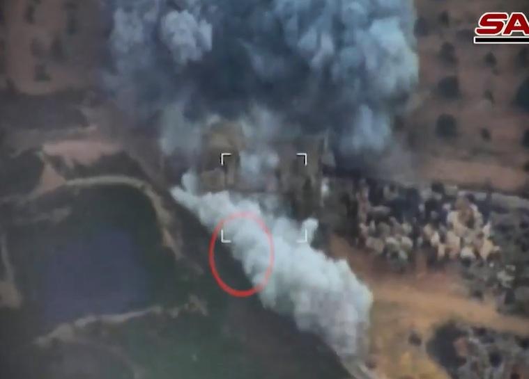Cận cảnh máy bay Nga, Syria không kích phiến quân thân Thổ Nhĩ Kỳ