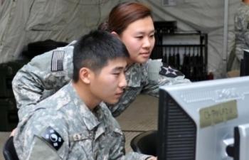 Quân đội Mỹ - Hàn tập trận chung trên máy tính
