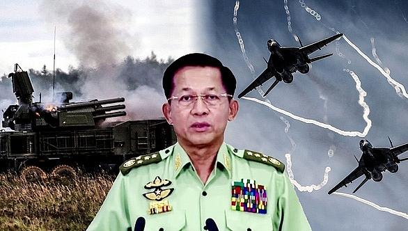 Thống tướng Min Aung Hlaing, tổng tư lệnh quân đội Myanmar, hiện nắm quyền điều hành đất nước sau cuộc đảo chính quân sự hôm 1-2.