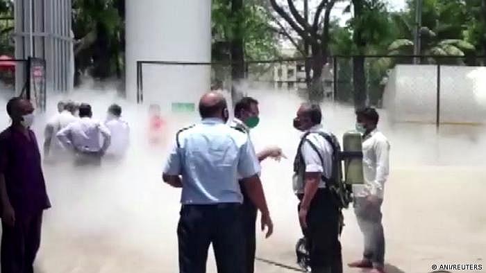 Một bình oxy bị rò rỉ tại bệnh viện ở Nashik, Ấn Độ