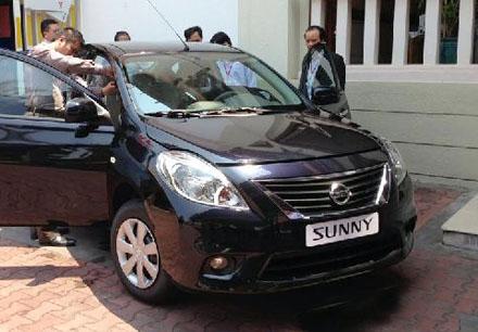 Hình ảnh được cho là của mẫu Nissan Sunny tại Việt Nam