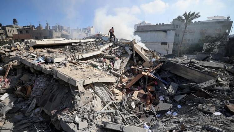 Cảnh tượng đổ nát ở Dải Gaza ngày 15/5/2021.
