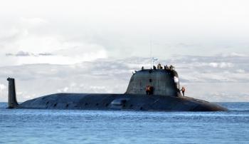 Ba tàu ngầm hạt nhân Nga tập trận ở Bắc Cực