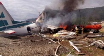 Máy bay Nga chở 50 người đâm vào nhà máy xử lý nước thải