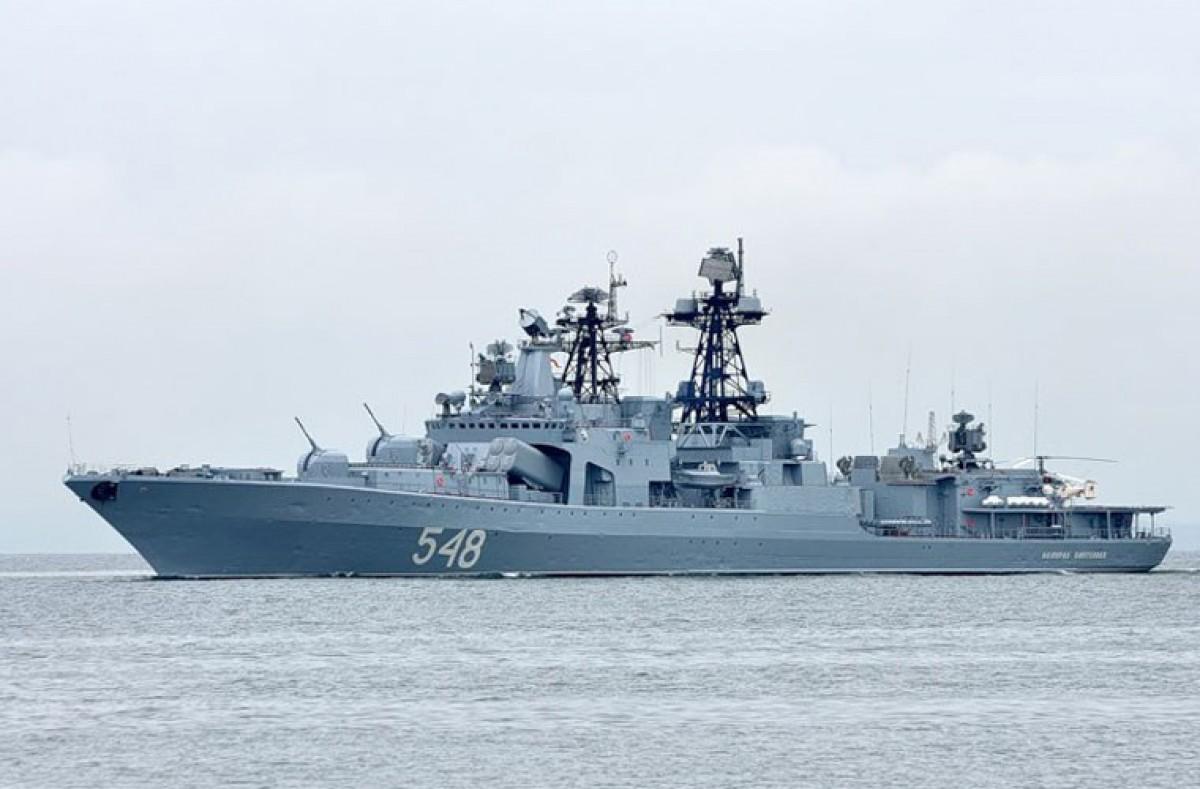 Tàu săn ngầm Đô đốc Pantelev được đánh giá là một trong những tàu săn ngầm hiện đại nhất thế giới.