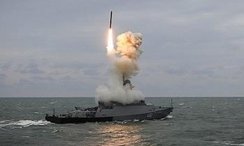 Tàu chiến Nga sắp tập trận bắn tên lửa ngoài khơi Syria