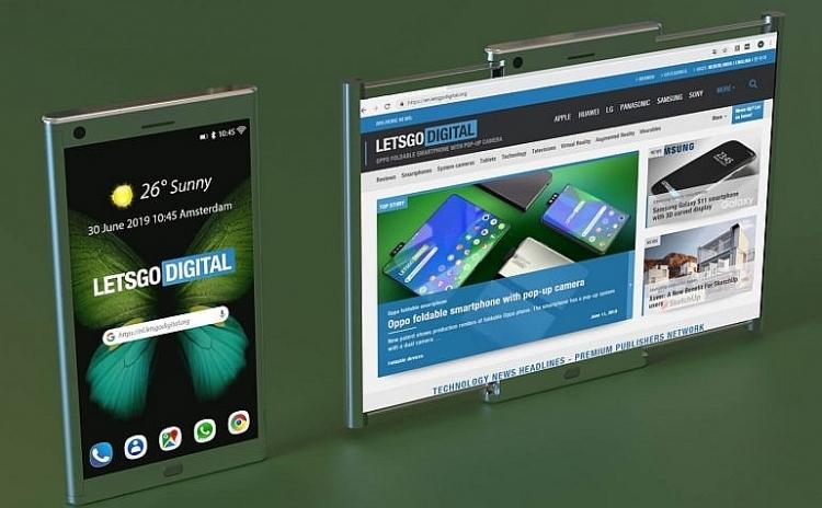 Samsung đăng ký sáng chế smartphone với màn hình kéo sang hai bên
