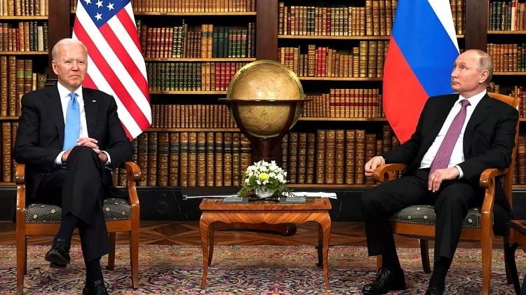 Tổng thống Mỹ Joe Biden và Tổng thống Nga Vladimir Putin tại cuộc họp thượng đỉnh ở Geneva hồi tháng 6.