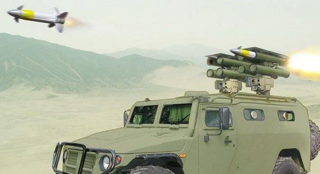 Xem hệ thống Kornet-EM khai hỏa tiêu diệt mục tiêu