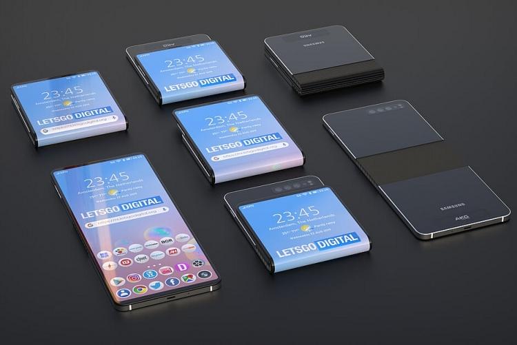 smartphone tuong lai cua samsung co man hinh gap ngang