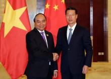 Thủ tướng Nguyễn Xuân Phúc hội kiến Phó Thủ tướng Trung Quốc và khai trương gian hàng Việt Nam tại CAEXPO