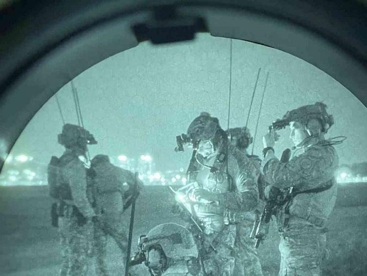 Những người lính Mỹ tham gia cuộc tập trận Teak Knife hôm 13/9
