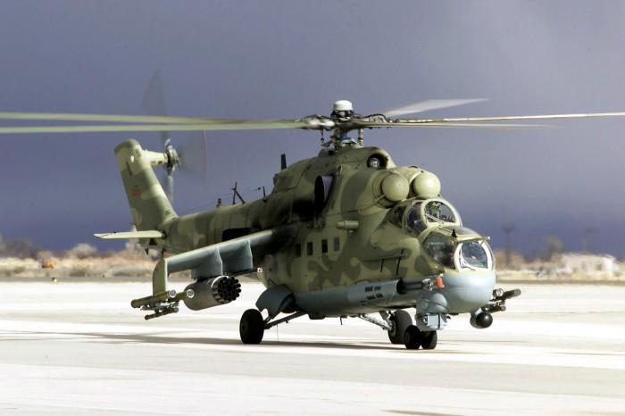 Trực thăng vũ trang Mi-24 của Nga đã đến Syria
