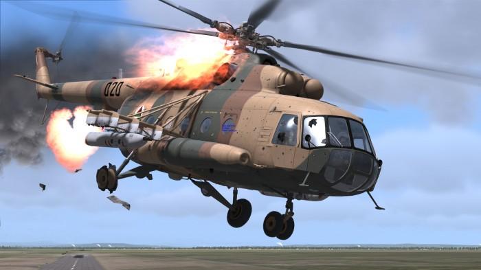 [VIDEO] Trực thăng Mi-8 vẫn bay sau khi trúng tên lửa của IS