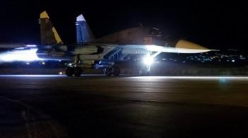 [Chùm ảnh] Chiến đấu cơ Nga xuất kích trong đêm diệt IS