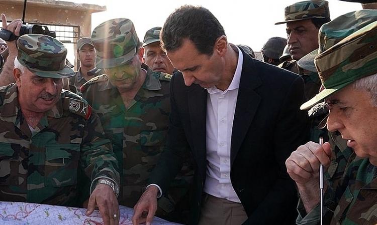 Tổng thống Syria thăm chiến trường Idlib