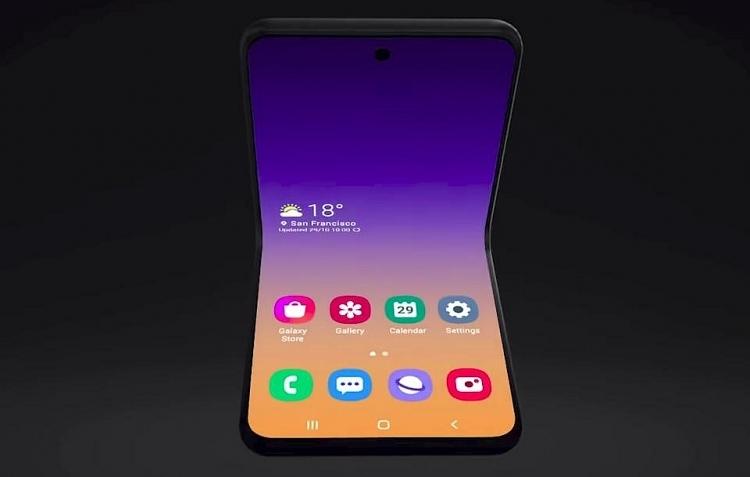 samsung cong bo nguyen mau smartphone man hinh gap vo so