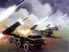 [Chùm ảnh] Ukraine đưa pháo phản lực BM-27 tới miền Đông