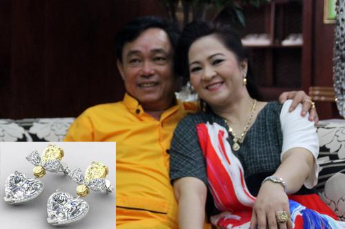 Đại gia Dũng 'lò vôi' tặng vợ cặp bông tai 3 triệu USD