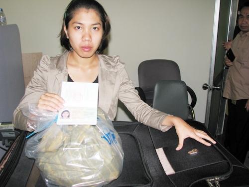 Trần Hạ Tiên mang theo số lượng lớn ma túy bị cơ quan