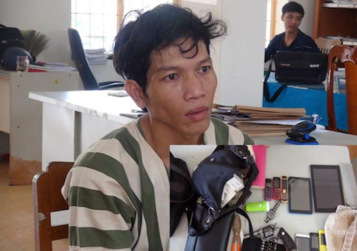 Tên trộm tàng trữ súng rulo và 17 viên đạn tại nhà