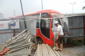 xe phuong trang tong do rao chan cong trinh nha ga metro
