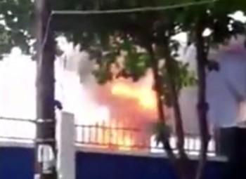 Cháy trạm biến áp, hàng trăm người dân hoảng hốt