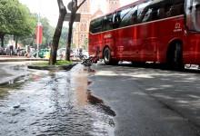 Xe chở khách du lịch 'đại náo' trung tâm Sài Gòn