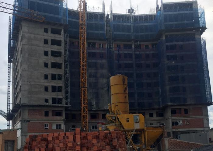 tiến độ bàn giao căn hộ giá rẻ TECCO TOWN 12/2017 Block D-E