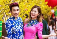 Quang Hà và Hương Tràm tình tứ du xuân