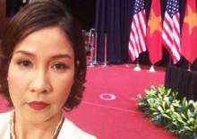 Ca sĩ Mỹ Linh hát quốc ca trước Tổng thống Obama