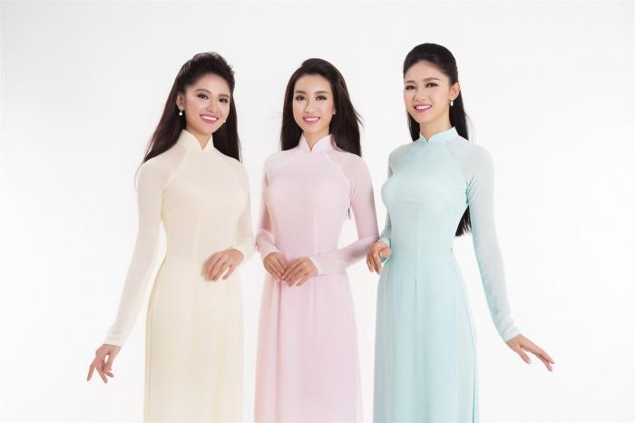 Top 3 Hoa hậu Việt Nam khoe sắc với áo dài