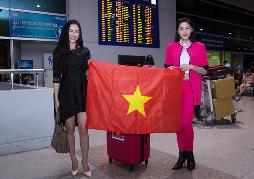 Hoa hậu Thu Thảo lên đường thi Hoa hậu Quốc tế