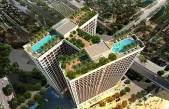 Tòa nhà 5 sao có bể bơi dát vàng 24K đầu tiên ở Đà Nẵng