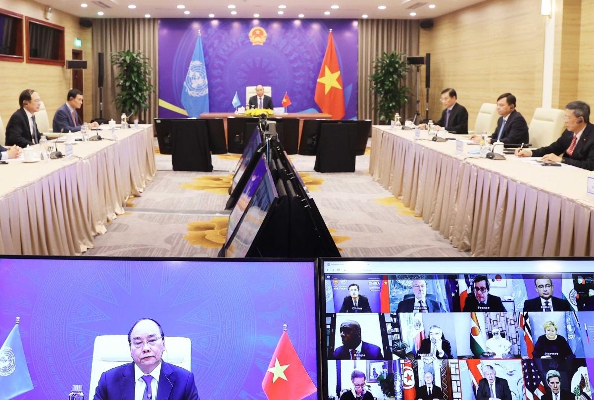 Thủ tướng Chính phủ Nguyễn Xuân Phúc tham dự phiên Thảo luận mở Cấp cao trực tuyến của Hội đồng Bảo an Liên hợp quốc