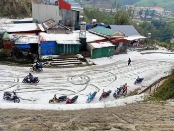 Thêm nhiều tỉnh xuất hiện mưa đá