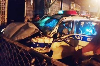 Ôtô CSGT Bình Dương tông chết người trên vỉa hè