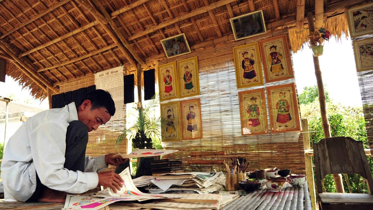 Đề nghị UNESCO công nhận nghề làm tranh Đông Hồ