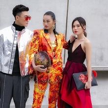 top 3 the face viet nam 2018 khoe street style noi bat o han quoc