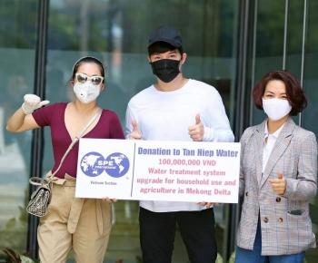 Ca sĩ Mỹ Lệ và Nathan Lee ủng hộ hơn 700 triệu chống hạn mặn