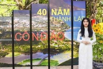 Hoa hậu Loan Vương tham dự lễ kỷ niệm 40 năm Di tích quốc gia đặc biệt Côn Đảo