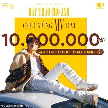 """""""Hãy trao cho anh"""" của Sơn Tùng M-TP lọt top 1 xem nhiều nhất châu Á"""