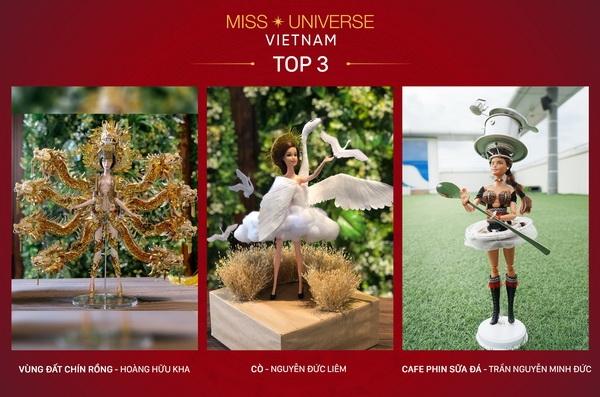 cong bo top 3 trang phuc dan toc cho hoang thuy tai miss universe 2019
