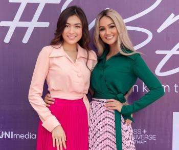Hoa hậu H'Hen Niê xuất hiện nổi bật với mái tóc bạch kim
