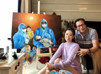 Hoa hậu Khánh Vân xin lỗi vì vẽ tranh chưa xin phép tác giả