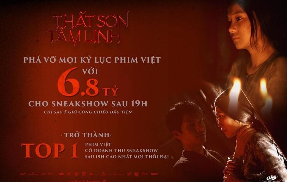 """""""Thất Sơn tâm linh"""" là phim Việt có doanh thu công chiếu cao nhất"""