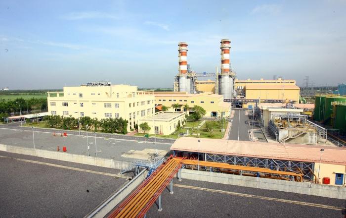 Toàn cảnh nhà máy điện Tuabin khí Chu trình hỗn hợp Nhơn Trạch 2 - Huy Hùng (TTXVN)