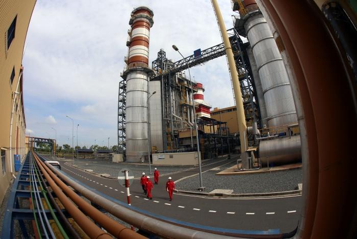 Một góc nhà máy điện Nhơn Trạch 2 - Huy Hùng (TTXVN)