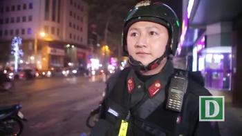Cảnh sát cơ động Hà Nội tuần tra xuyên đêm trấn áp tội phạm dịp Tết